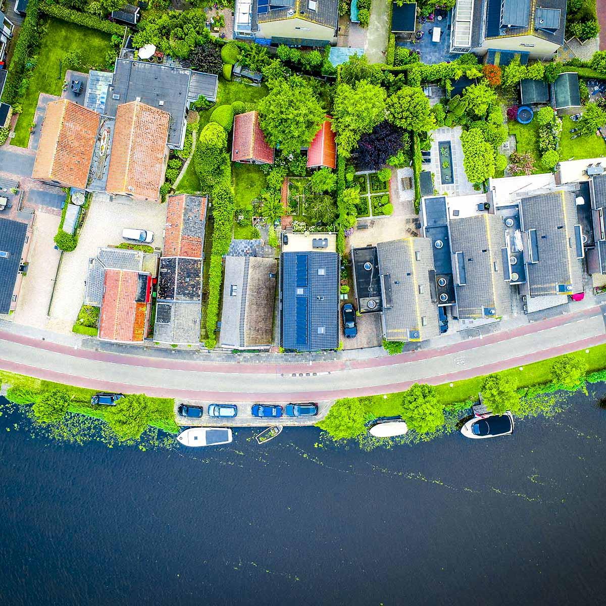 Nes aan de Amstel (top view)